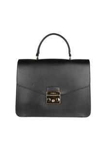 Furla - Black leather Metropolis handbag