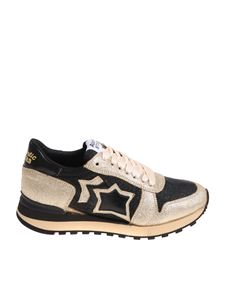 Atlantic Stars - Black and golden Alhena sneakers