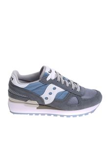 Saucony - Grey and light blue Shadow O' sneakers