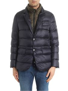 Fay - Blue quilted down jacket