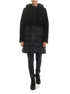 Herno - Black technical fabric and wool down jacket