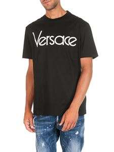 Versace - Black crew neck t-shirt with logo