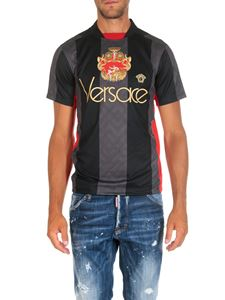 Versace - Black and grey technical fabric t-shirt