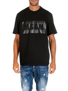 MSGM - Black cotton T-shirt