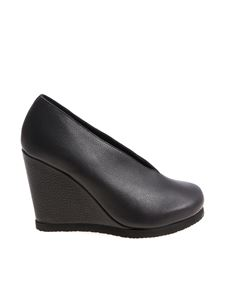 Peter Non - Black leather Ava wedge shoes