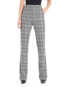 Clips - Black and white trousers with houndstooth inserts