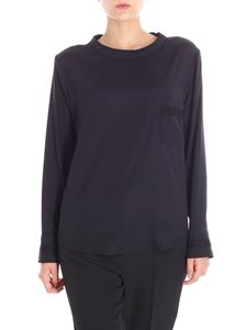 Lorena Antoniazzi - Black blouse with chest pocket