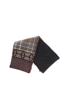 Antonio Marras - Anthracite patchwork effect scarf