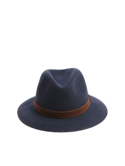 9415ca25b73 Borsalino Fall Winter 18 19 alessandria blue felt hat - 39 0060 0450