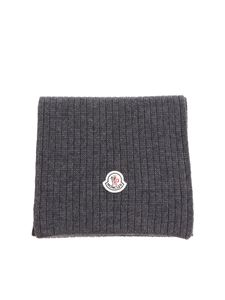 Moncler - Gray knitted scarf