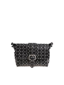 Red Valentino - Black Flower Puzzle leather bag