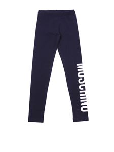 Moschino Kids - Black cotton leggings