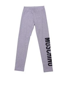 Moschino Kids - Grey cotton leggings