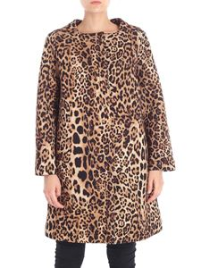 Clips - Animal printed flared coat