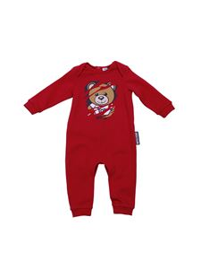Moschino Kids - Pagliaccetto rosso Teddy Bear