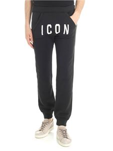 Dsquared2 - Pantalone nero in felpa Icon