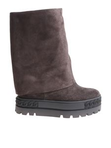 Casadei - Grey reindeer leather boots