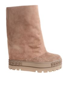 Casadei - Pink reindeer leather boots