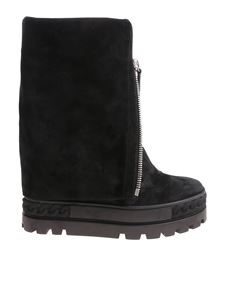 Casadei - Black boots with front zip