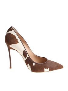 Casadei - Spotted pointy pumps