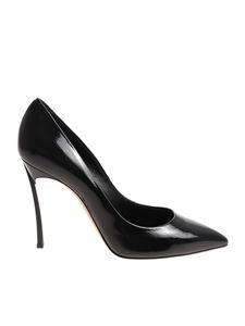 Casadei - Black patent leather pointy pumps