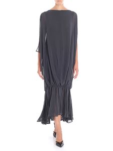 Jacquemus - Long dark gray dress with curl on the bottom