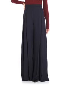 Jacquemus - Wide dark blue trousers with pleats