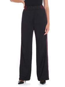 Alexander Wang - Wide black trousers with side vents