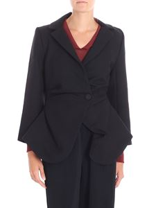 Jacquemus - Black double-breasted jacket with drapery