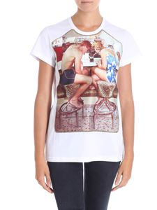 N° 21 - White t-shirt with satin print