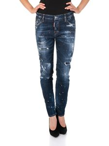 Dsquared2 - Cool Girl blue jeans Kickass Washed Denim