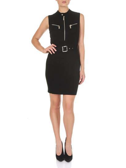 Dsquared2 - Short black dress with zip and belt