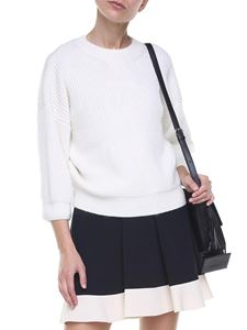 3.1 Phillip Lim - White wool and mohair pullover with puffed sleeves
