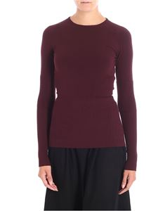 Antonio Marras - Burgundy sweater with stretch ribbed inserts