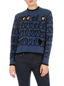 Fendi - Heart Scribble pullover  with cut-out