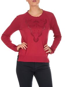 Fendi - Red Tropical Breeze Lace pullover