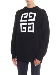 Givenchy - Pullover overfit nero con logo