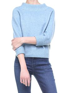 3.1 Phillip Lim - Light blue crop pullover with three-quarter sleeves
