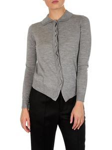 Chloé - Grey cardigan with wavy insert