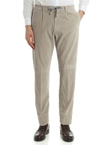 Eleventy - Sand-colored corduroy trousers