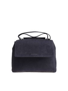 Orciani - Blue Sveva Snake Nabuk medium shoulder bag