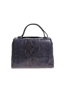 Orciani - Sveva Diamond blue night shoulder bag