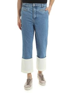 Loewe - Light-blue jeans with contrasting insert