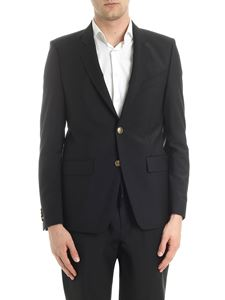 Givenchy - Black two buttons jacket with branded details