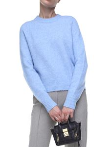 3.1 Phillip Lim - Light blue wool and alpaca pullover