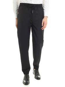 Givenchy - Black jogging pants with logo details