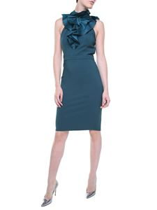 Dsquared2 - Teal color Ashley sheath dress with ruffles