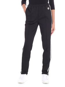 Moncler - Black trousers with white stripes