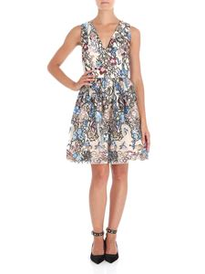 Alice + Olivia - Becca tulle dress with multicolor floral embroidery