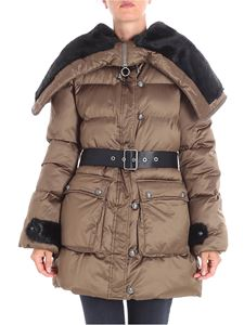 Pinko - Boccale quilted brown jacket